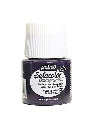 Pebeo Setacolor Transparent Fabric Paint Parma Violet 45 Ml [Pack Of 3] (3PK-329-029)