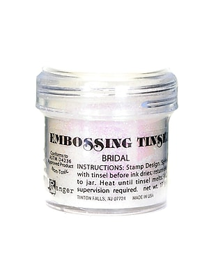 Ranger Specialty Embossing Powders Bridal Tinsel 1 Oz. Jar [Pack Of 3] (3PK-EPJ37446)