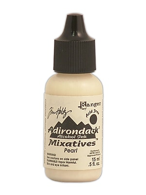 Ranger Tim Holtz Adirondack Alcohol Inks Pearl Mixatives 0.5 Oz. Bottle [Pack Of 3] (3PK-TIM22114)