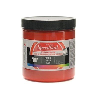 Speedball Fabric Screen Printing Ink Red 8 Oz. [Pack Of 3] (3PK-4561)