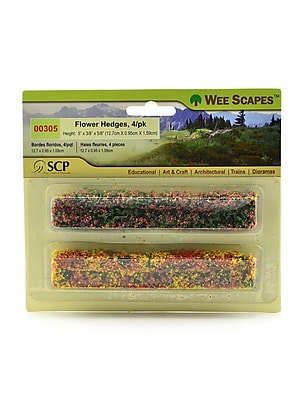 Wee Scapes Architectural Model Flowers & Hedges (Green Blossom) 5 X 3/8 , 3/Pack (3PK-00305)