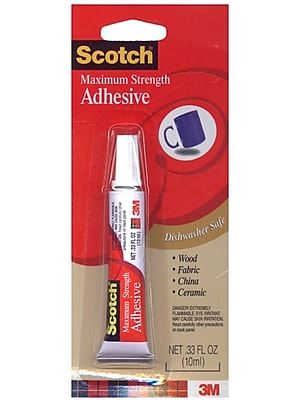 3M Maximum Strength Adhesive 0.33 Fl. Oz. Tube [Pack Of 12] (12PK-6048)