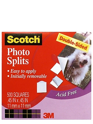 3M Photo Mounting Squares 1/2 In. X 1/2 In. Pack Of 500 [Pack Of 6] (6PK-009)