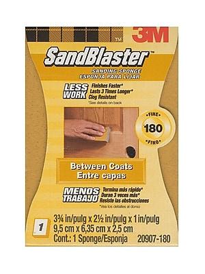 3M Sandblaster Sanding Pads Or Standing Sponges 180 Grit Sanding Sponge [Pack Of 4] (4PK-20907-180)