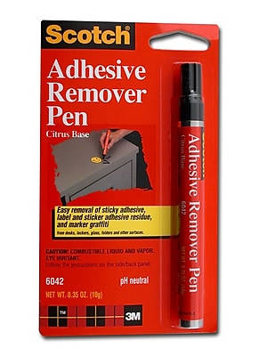 3M Scotch Adhesive Remover Pen 0.35 Oz. [Pack Of 2] (2PK-6042)
