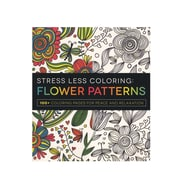 Adams Media Stress Less Coloring Book Flower Patterns (9781440592874)