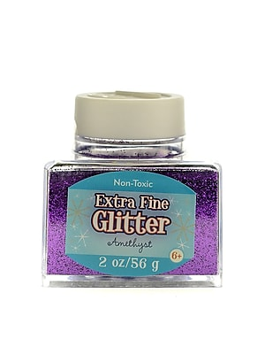 Advantus Corp Extra Fine Glitter Amethyst 2 Oz. Stackable Jar [Pack Of 4] (4PK-SUL50866)