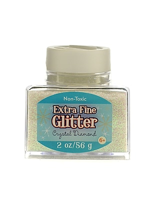 Advantus Corp Extra Fine Glitter Crystal Diamond 2 Oz. Stackable Jar [Pack Of 4] (4PK-SUL50860)