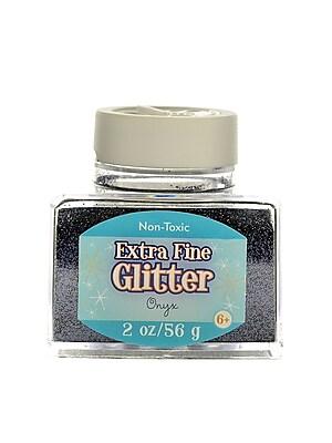 Advantus Corp Extra Fine Glitter Onyx 2 Oz. Stackable Jar [Pack Of 4] (4PK-SUL50871)