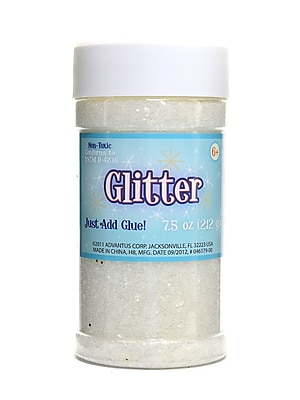 Advantus Corp Glitter Crystal 8 Oz. Shaker Bottle [Pack Of 3] (3PK-SUL51146)