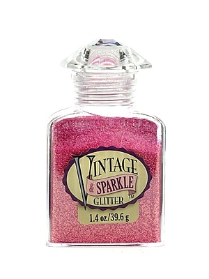 Advantus Corp Vintage And Sparkle Glitter Azalea 1.4 Oz. Bottle [Pack Of 4] (4PK-SUL51615)