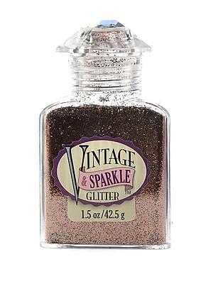 Advantus Corp Vintage And Sparkle Glitter Mahogany 1.5 Oz. Bottle [Pack Of 4] (4PK-SUL51628)
