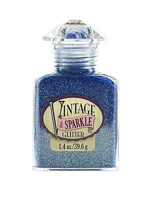 Advantus Corp Vintage And Sparkle Glitter Malibu Blue 1.4 Oz. Bottle [Pack Of 4] (4PK-SUL51620)