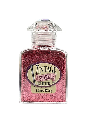 Advantus Corp Vintage And Sparkle Glitter Rosebud 1.5 Oz. Bottle [Pack Of 4] (4PK-SUL51622)