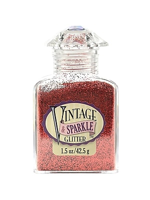 Advantus Corp Vintage And Sparkle Glitter The Red Carpet 1.5 Oz. Bottle [Pack Of 4] (4PK-SUL51621)