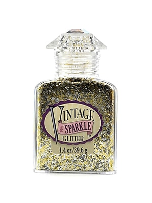 Advantus Corp Vintage And Sparkle Glitter Tinsel Town Sliver Mix 1.4 Oz. Bottle [Pack Of 4] (4PK-SUL51632)