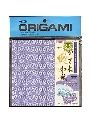 Aitoh Origami Paper 5 7/8 In. X 5 7/8 In. Kasane Hemp 12 Sheets (83-0726)