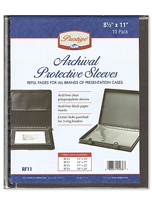 Alvin Archival Refill Pages 11 In. X 8 1/2 In. Pack Of 10 (RF11)