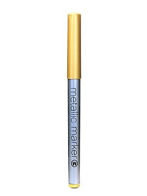 American Crafts Metallic Markers Gold Medium [Pack Of 12] (12PK-62211)