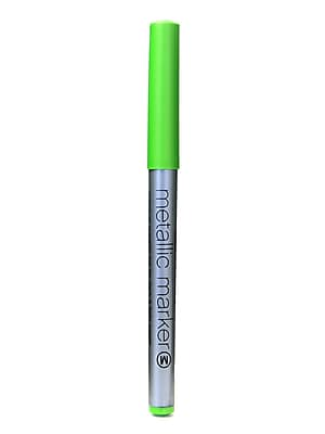 American Crafts Metallic Markers Green Medium [Pack Of 12] (12PK-62216)