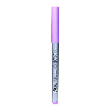 American Crafts Metallic Markers Violet Medium [Pack Of 12] (12PK-62218)