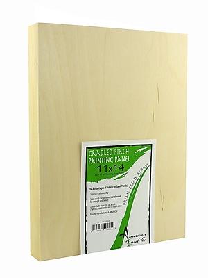 American Easel 1 5/8 In. Cradled Wood Painting Panels 11 In. X 14 In. [Pack Of 2] (2PK-AE1114-D)