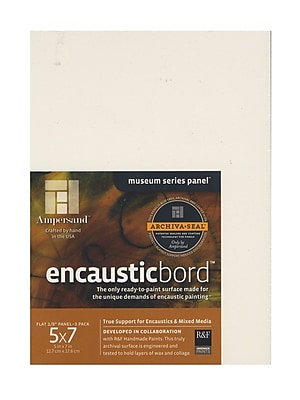 Ampersand Encausticbord 5 In. X 7 In. 1/8 In. Pack Of 3 (EN057)