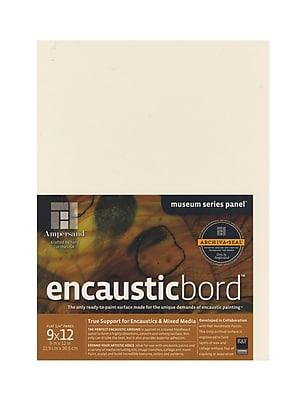 Ampersand Encausticbord 9 In. X 12 In. 1/4 In. Each [Pack Of 3] (3PK-EN0912)