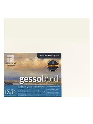 Ampersand Gessobord 12 In. X 12 In. 1/8 In. Each [Pack Of 2] (2PK-GBS122)