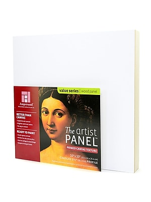Ampersand The Artist Panel Canvas Texture Cradled Profile 10 In. X 10 In. 1 1/2 In. (APC1.5 1010)