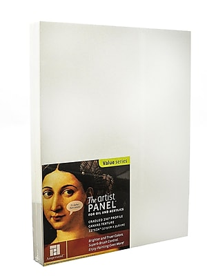 Ampersand The Artist Panel Canvas Texture Cradled Profile 11 In. X 14 In. 1 1/2 In. (APC1.5 1114)