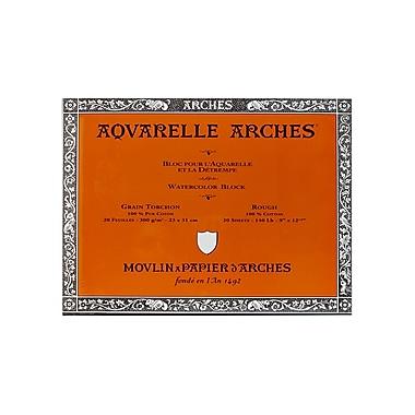 Arches Aquarelle Watercolor Block 140 Lb. Rough 9 In. X 12 In. (200177165)