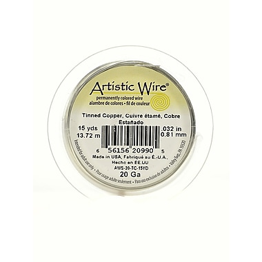 Artistic Wire Spools 15 Yd. Tinned Copper 20 Gauge [Pack Of 4] (4PK-AWS-20-TC-15YD)