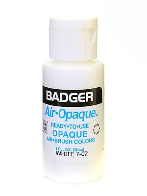 Badger Air Opaque Airbrush Color White 1 Oz. Bottle [Pack Of 5] (5PK-7-02)