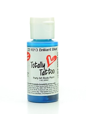 Badger Totally Tattoo System Body Paint Brilliant Blue 1 Oz. [Pack Of 2] (2PK-TT-1013)
