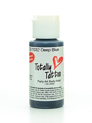 Badger Totally Tattoo System Body Paint Deep Blue 1 Oz. [Pack Of 2] (2PK-TT-1032)