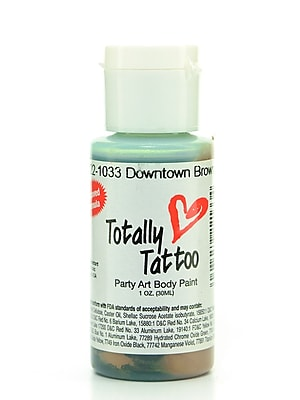 Badger Totally Tattoo System Body Paint Downtown Brown 1 Oz. [Pack Of 2] (2PK-TT-1033)