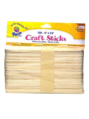 Bemiss Jason Wooden Craft Sticks 6 In. X 11/16 In. [Pack Of 10] (10PK-25360)