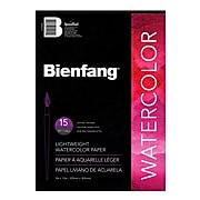 """Bienfang Aquademic Watercolor Pads 9"""" x 12"""", 15 Sheets/Pad, Pack of 4 (4PK-R285621)"""