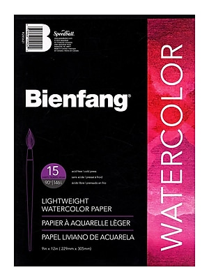 Bienfang Aquademic Watercolor Pads 9 In. X 12 In. Pad Pad Of 15 [Pack Of 4] (4PK-R285621)