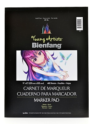 Bienfang Young Artists Marker Pad 9 In. X 12 In. Pad Of 50 Sheets [Pack Of 6] (6PK-220001)