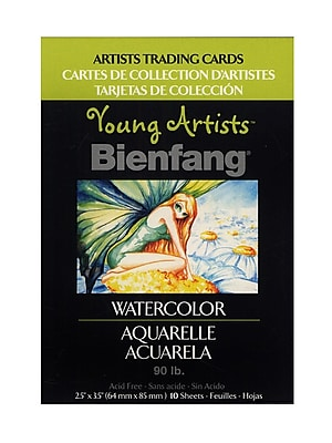 Bienfang Young Artists Trading Cards Watercolor Pack Of 10 [Pack Of 12] (12PK-220013)