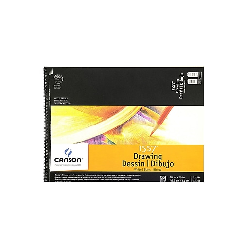 Canson C A Grain Drawing Paper Pads, 18 In. x 24 In. (100510889)