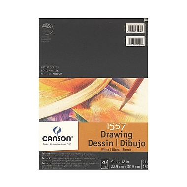 Canson C A Grain Drawing Paper Pads 9 In. X 12 In. [Pack Of 3] (3PK-100510886)