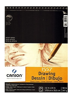 Canson Classic Cream Drawing Pad, 11 In. x 14 In., Pack Of 2 (2PK-100510974)