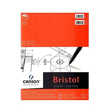 Canson Foundation Bristol Pads, Smooth, 11 In. x 14 In., Pack Of 2 (2PK-100511014)