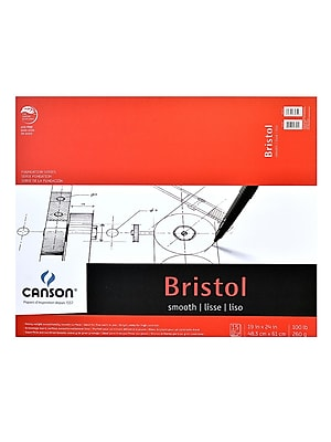 Canson Foundation Bristol Pads, Smooth, 19 In. x 24 In. (100511016)