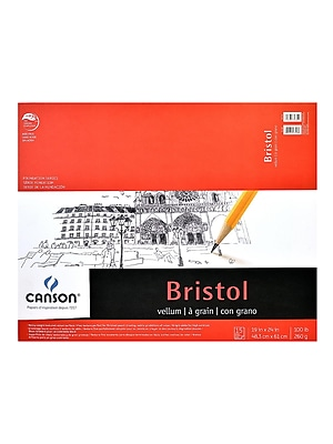 Canson Foundation Bristol Pads, Vellum, 19 In. x 24 In. (100511021)