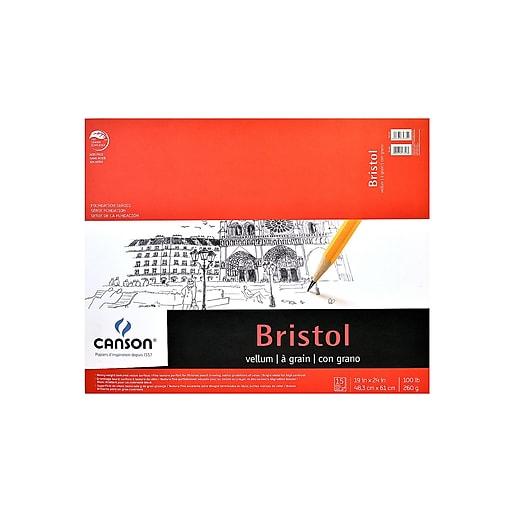 Canson Foundation Bristol Pads, Vellum, 19 In. x 24 In. (100511021)