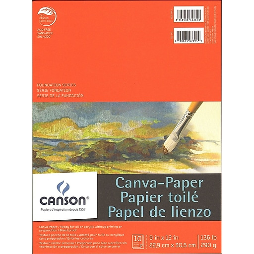 Canson Foundation Canva-Paper Pad, 9 In. x 12 In., Pack Of 2 (2PK-100510841)
